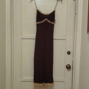 Brown slip dress